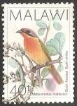 Sellos del Mundo : Africa : Malawi : Malaconotus multicolor
