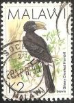 Sellos del Mundo : Africa : Malawi : Silvery cheeked hornbill