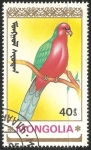 Sellos del Mundo : Asia : Mongolia : Alisterus scapularis-papagayo australiano