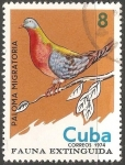 Sellos del Mundo : America : Cuba : Fauna extinguida-paloma migratoria