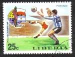 Sellos de Africa - Liberia -  Fútbol Copa del Mundo 1974 , Alemania