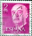 Sellos de Europa - España -  Intercambio 0,20 usd 2 ptas. 1956