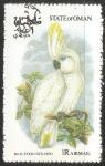 Sellos del Mundo : Asia : Omán : blue eyed cockatoo-cacatúa de ojos azules