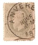 Sellos del Mundo : Europa : Bélgica : Leopoldo II - 1869-78