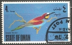 Sellos del Mundo : Asia : Omán : European bee eater-Abejaruco europeo