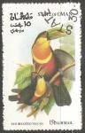 Sellos del Mundo : Asia : Omán : Red breasted toucan-tucán bicolor