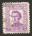 Sellos de America - Uruguay -  175 Anivº del nacimiento del general José Gervasio Artigas