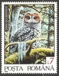 Sellos del Mundo : Europa : Rumania : Strix occidentalis-búho manchado