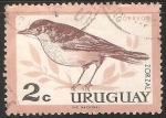 Sellos del Mundo : America : Uruguay : Zorzal