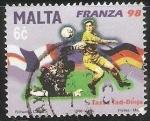 Sellos del Mundo : Europa : Malta : Copa Mundial de Fútbol de 1998