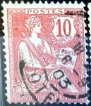Sellos de Europa - Francia -  Intercambio jxn 0,90 usd 10 cent. 1902