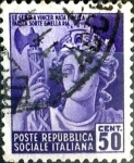 Sellos de Europa - Italia -  Intercambio cr5f 0,20 usd 50 cent. 1944