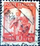 Sellos de Europa - Italia -  Intercambio 0,20 usd 10 l. 1947