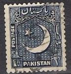 Sellos del Mundo : Asia : Pakistán : medialuna y estrella