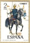 Sellos del Mundo : Europa : España : UNIFORMES - Lanceros de Caballeria 1883