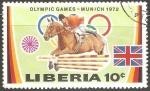 Sellos del Mundo : Africa : Liberia : Juegos Olímpicos de Múnich 1972