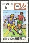 Sellos del Mundo : Asia : Maldivas : Copa Mundial de Fútbol de 1974