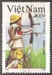 Sellos del Mundo : Asia : Vietnam : Juegos Olímpicos de Barcelona 1992-Tiro con arco