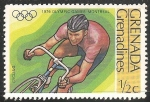 Sellos del Mundo : America : Granada : Juegos Olímpicos de Montreal 1976-ciclismo