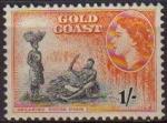 Sellos del Mundo : America : Islas_Virgenes : COSTA DE ORO GOLD COAST 1952 Yvert146 Sello Nuevo Serie Basica