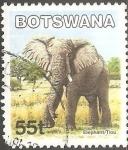 Sellos del Mundo : Africa : Botswana : Elefante