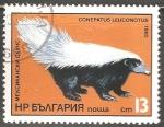 Sellos del Mundo : Europa : Bulgaria : Conepatus leuconotus-zorrino de nariz porcina