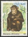 Sellos del Mundo : Africa : Guinea_Bissau : Macacos africanos- mono