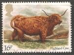Sellos de Europa - Reino Unido -  Highland cow-Vaca de las tierras altas