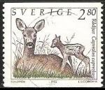 Sellos del Mundo : Europa : Suecia : Radjur-ciervo
