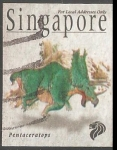 Sellos del Mundo : Asia : Singapur : Pentaceratops-dinosaurio