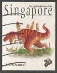 Sellos del Mundo : Asia : Singapur : Dinosaurio