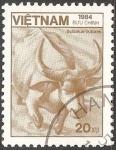 Sellos del Mundo : Asia : Vietnam : Bubalus bubalis-búfalo de agua