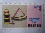 Sellos de Asia - Bhután -  Instrumentos Musicales - Scott/186.