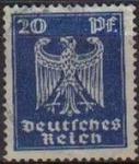 Sellos del Mundo : Europa : Alemania : DEUTSCHES REICH 1924 Scott333 Sello Serie Aguila Alemania Michel 358