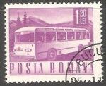 Sellos de Europa - Rumania -  Autobus