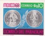 Sellos de America - Paraguay -  Mexico-68 monedas olímpicas mexicanas