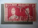 Sellos de Oceania - Nueva Zelanda -  Coronación - King George VI