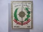Sellos de America - Perú -  Sesquicentenario Ejercito Peruano 1821-1971.