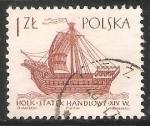 Sellos del Mundo : Europa : Polonia : Holk statek handlowy XIV