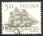 Sellos del Mundo : Europa : Polonia : Kliper Statek Handlowy XVX-velero