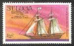 Sellos del Mundo : America : Santa_Lucía : Bicentennial of the American revolution