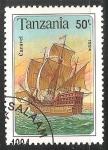 Sellos del Mundo : Africa : Tanzania : Caravel