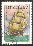 Sellos del Mundo : Africa : Tanzania : Battle - ship