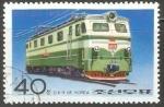 Sellos del Mundo : Asia : Corea_del_norte : Electric locomotive