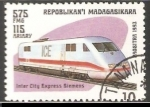 Sellos del Mundo : Africa : Madagascar : Inter City Express Siemens