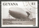 Sellos del Mundo : America : Guayana_Francesa : 150 th anniversary of the Birth of Graf Zeppelin
