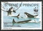 Sellos del Mundo : Africa : Santo_Tomé_y_Principe : Orcinus orca