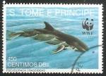 Sellos de Africa - Santo Tomé y Principe -  Pseudoraca crassidens