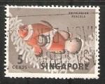 Sellos del Mundo : Asia : Singapur : amphiprion percula
