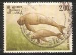 Sellos del Mundo : Asia : Sri_Lanka : Dugong dugon-Dugongo